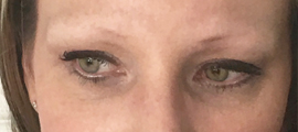 blondie before soft fill brow